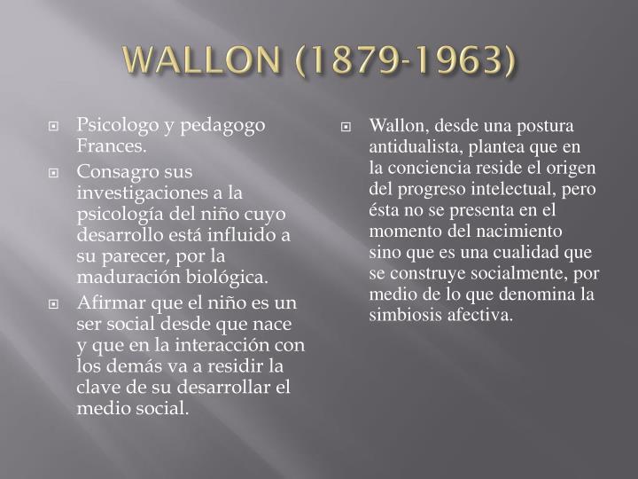 WALLON (1879-1963)