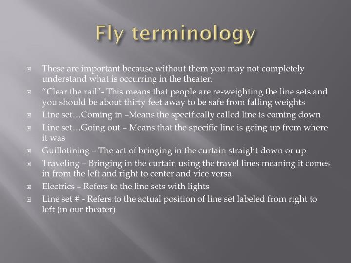 Fly terminology