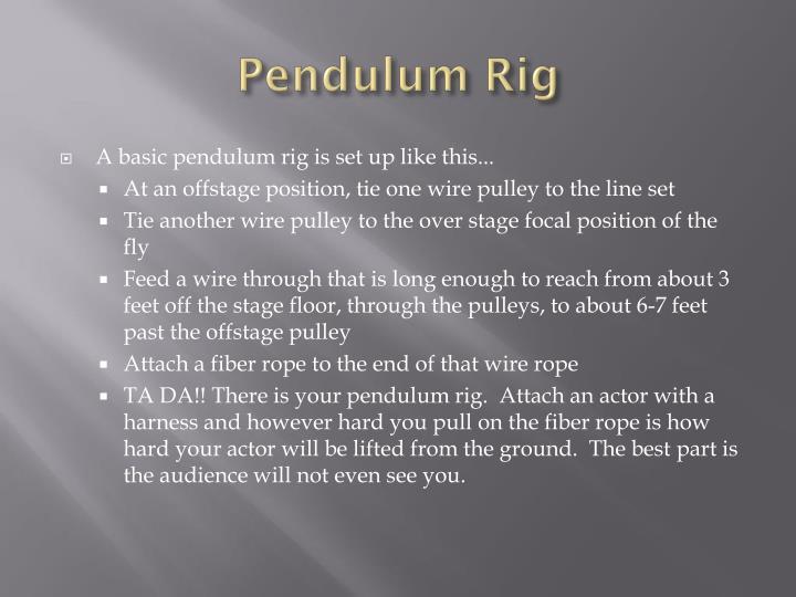 Pendulum Rig