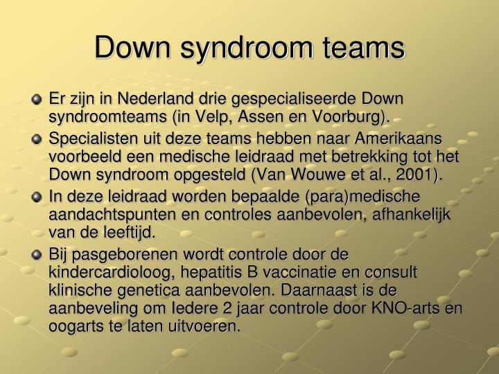 Down syndroom teams