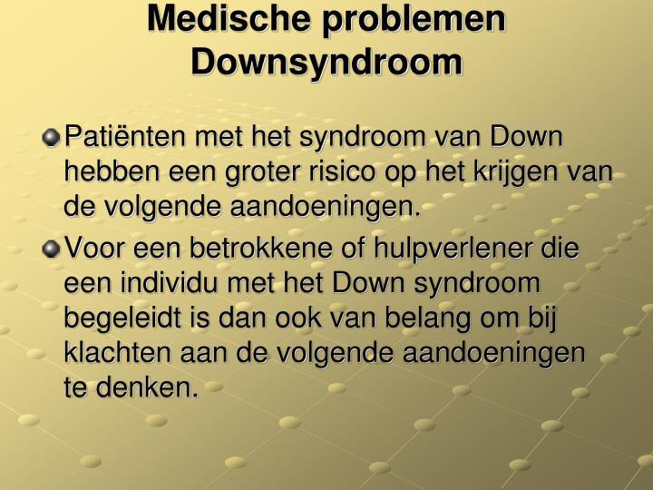 Medische problemen Downsyndroom