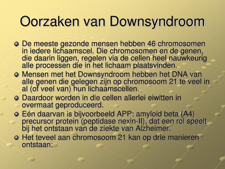 Oorzaken van Downsyndroom