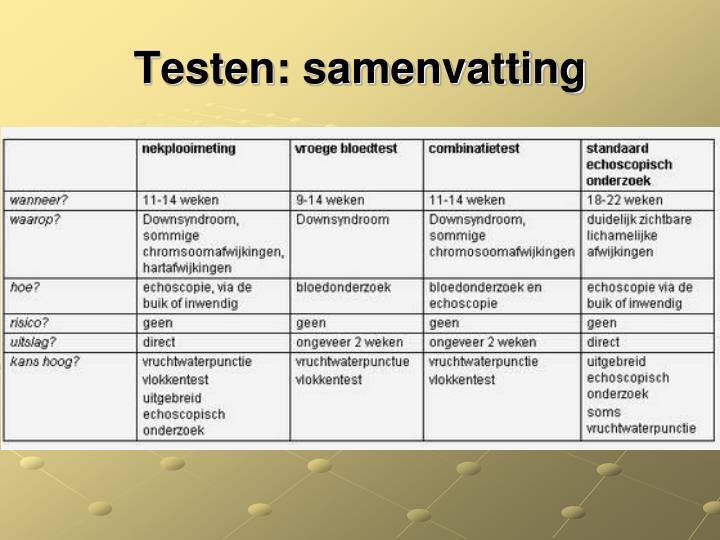 Testen: samenvatting