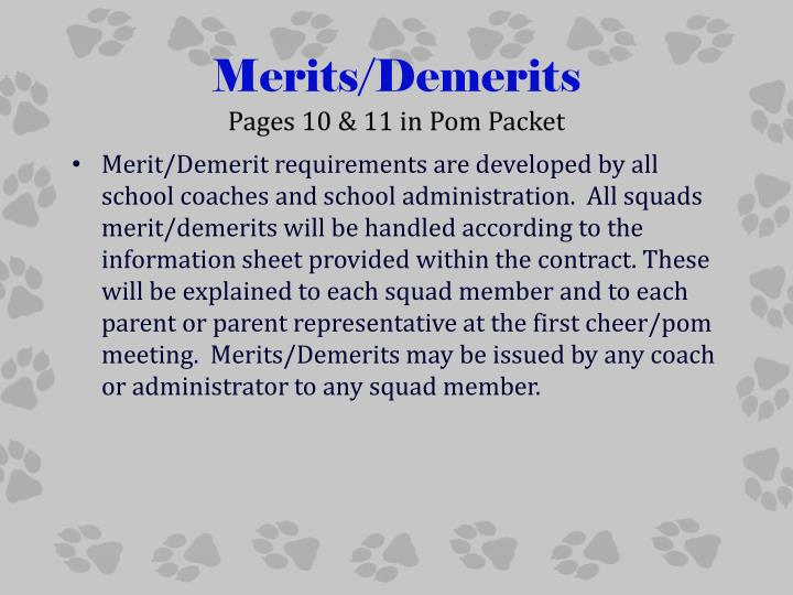 Merits/Demerits