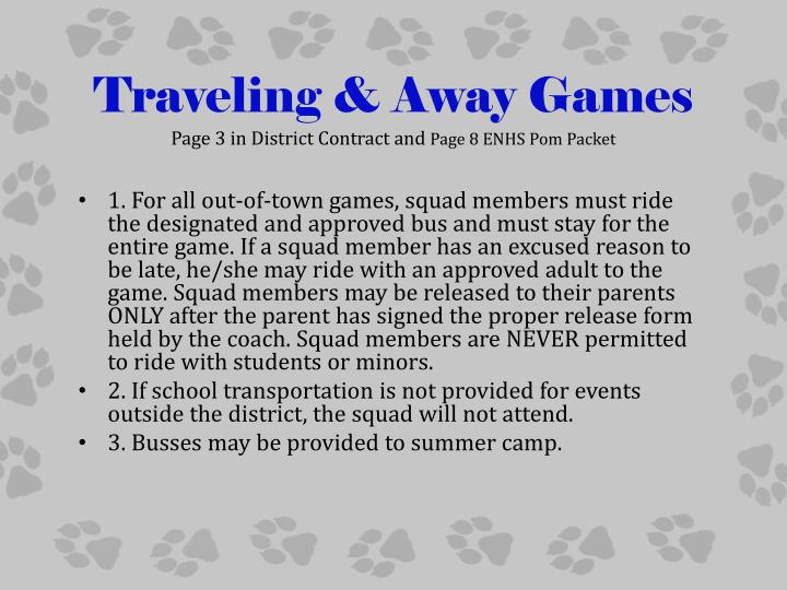 Traveling & Away Games