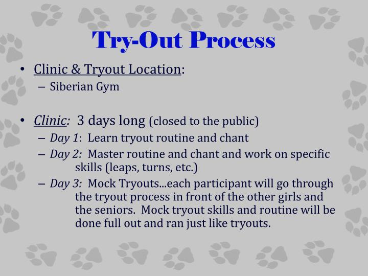 Try-Out Process