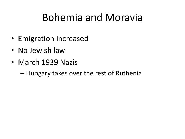 Bohemia and Moravia