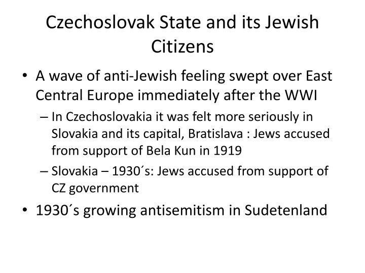 Czechoslovak State and its Jewish Citizens