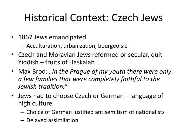 Historical Context: Czech Jews