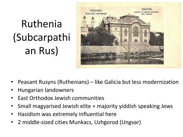 Ruthenia (Subcarpathian Rus)