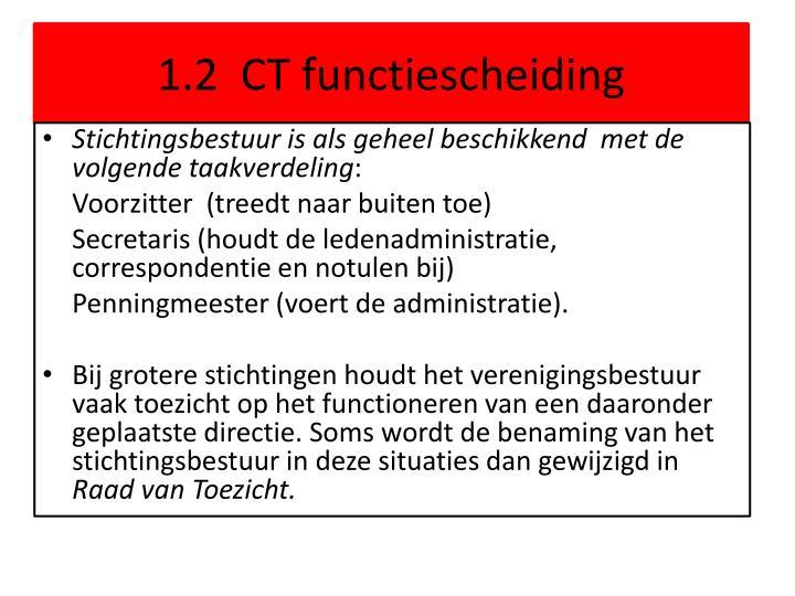 1.2  CT functiescheiding