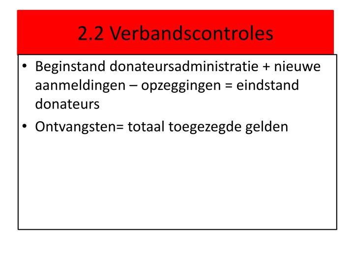 2.2 Verbandscontroles