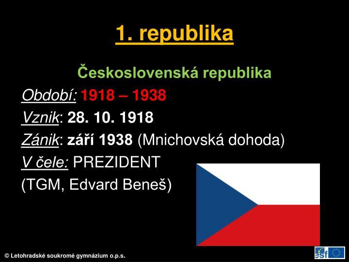 1. republika