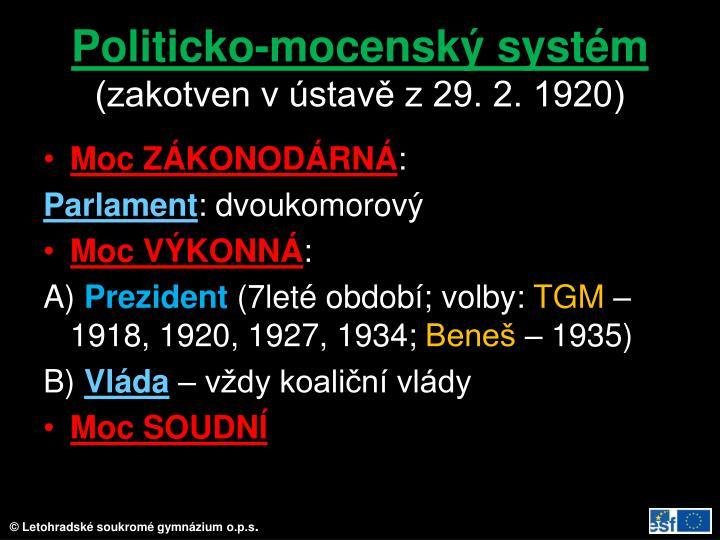 Politicko-mocenský systém
