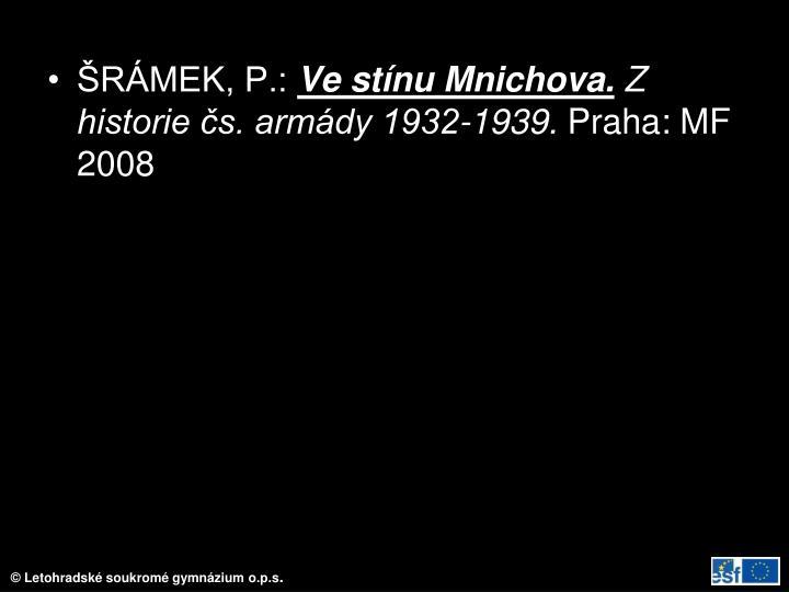 ŠRÁMEK, P.: