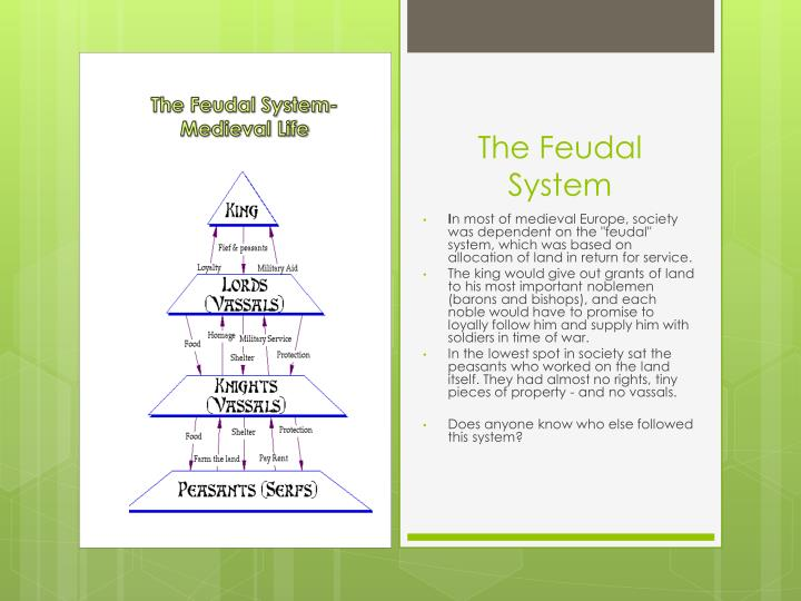 The Feudal System-Medieval Life
