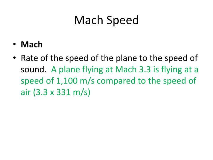 Mach Speed