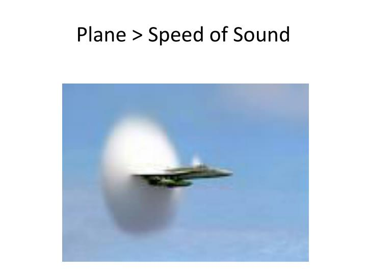 Plane > Speed of Sound