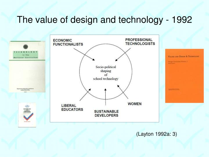 The value of design and technology - 1992