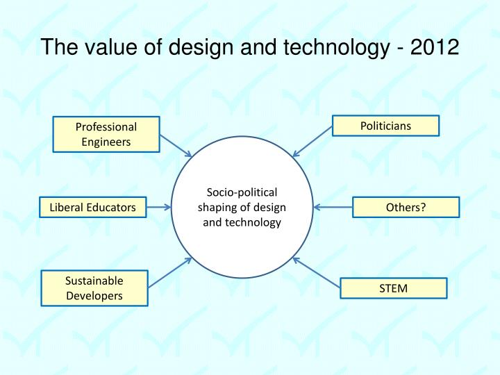 The value of design and technology - 2012