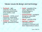 values issues in design and technology1