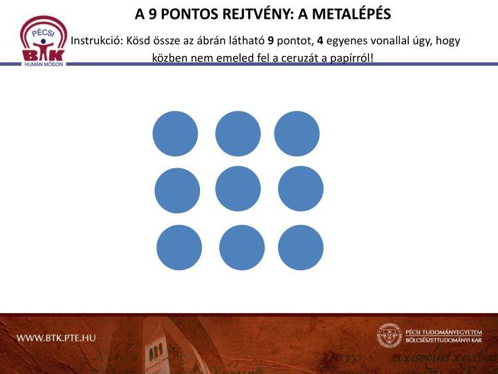 A 9 PONTOS REJTVÉNY: A METALÉPÉS