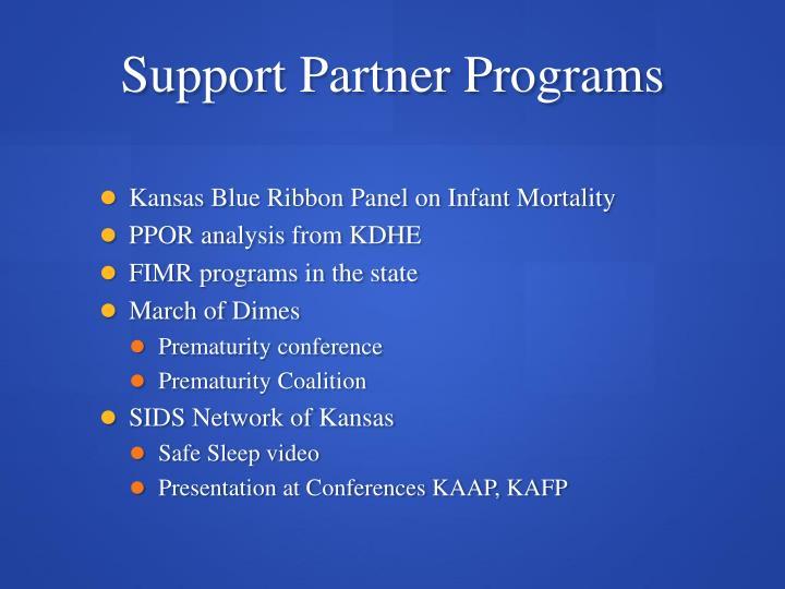Support Partner Programs