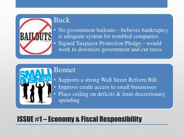 ISSUE #1 – Economy & Fiscal Responsibility