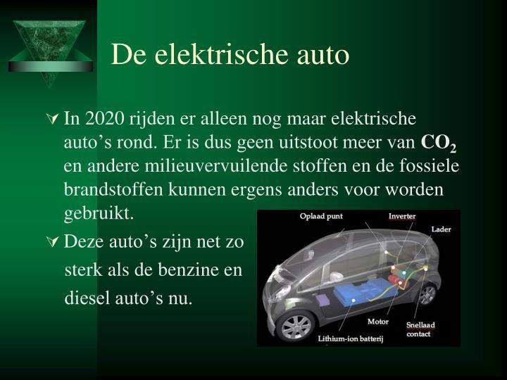 De elektrische auto