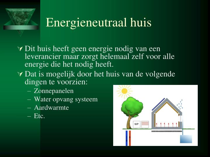 Energieneutraal huis