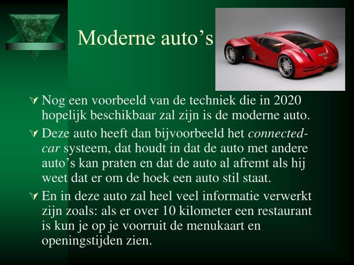 Moderne auto's