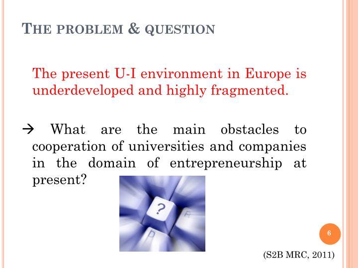 The problem & question