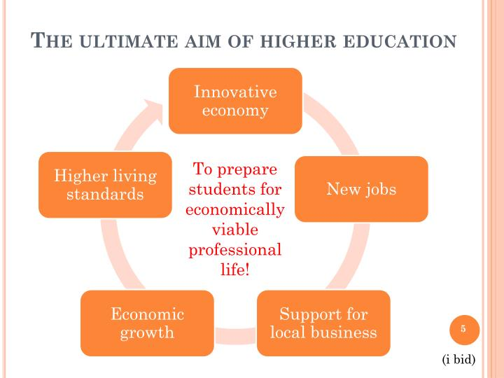 The ultimate aim of higher education