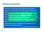 a literacy practice