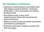 the affordances of facebook