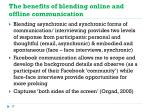 the benefits of blending online and offline communication