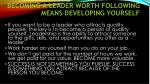 becoming a leader worth following means developing yourself