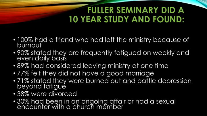 Fuller Seminary did a