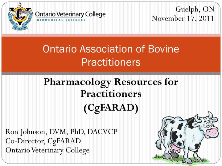 Ontario association of bovine practitioners