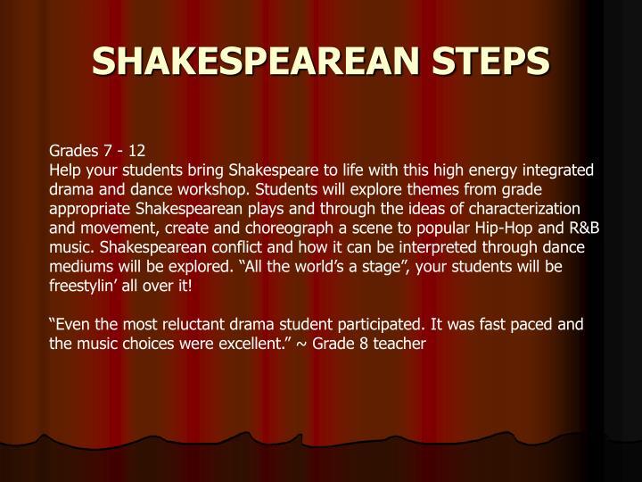 SHAKESPEAREAN STEPS