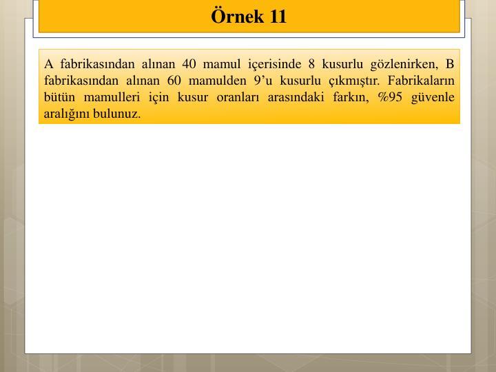 Örnek 11