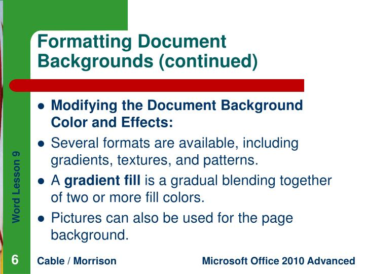 Formatting Document