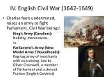 iv english civil war 1642 1649