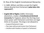 ix rise of the english constitutional monarchy