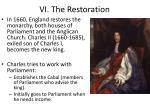 vi the restoration