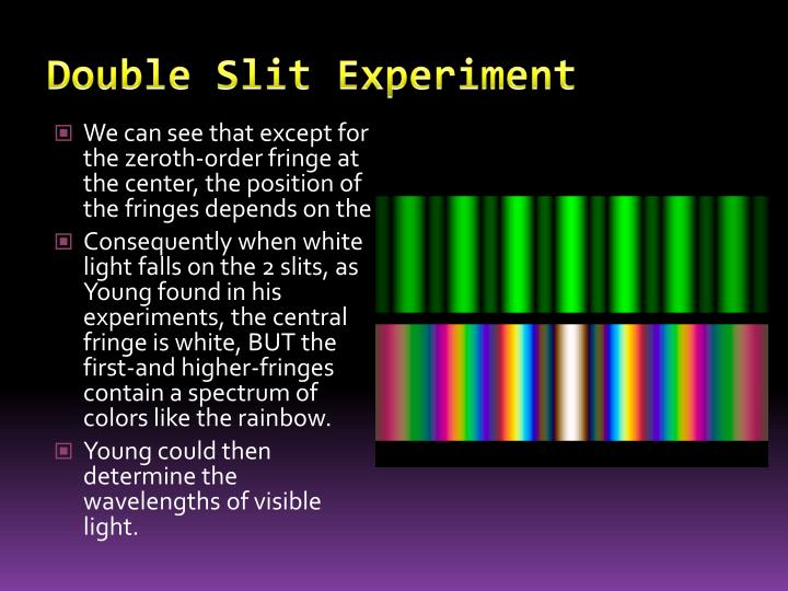 PPT - Optics: Young's Double Slit Experiment PowerPoint