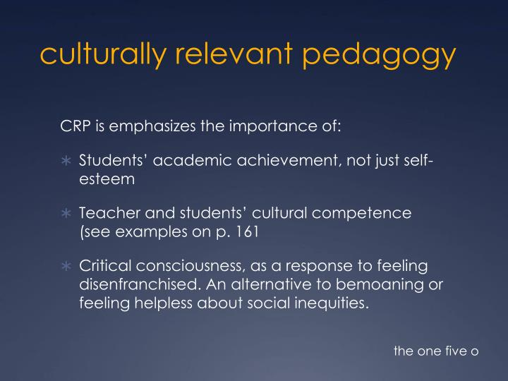 culturally relevant pedagogy