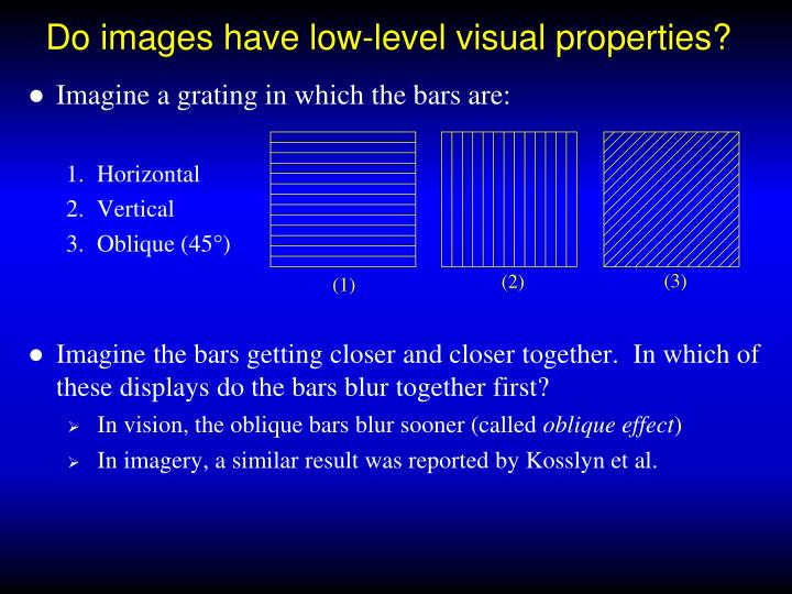 Do images have low-level visual properties?