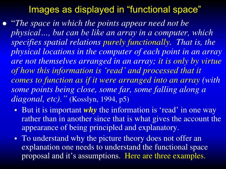 "Images as displayed in ""functional space"""