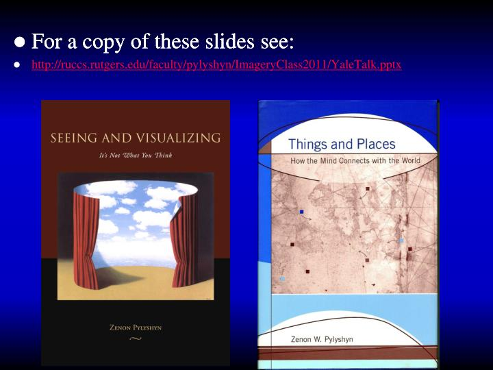 For a copy of these slides see: